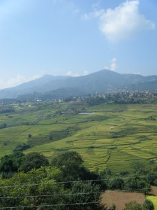 The view from the Monastry in Pharping